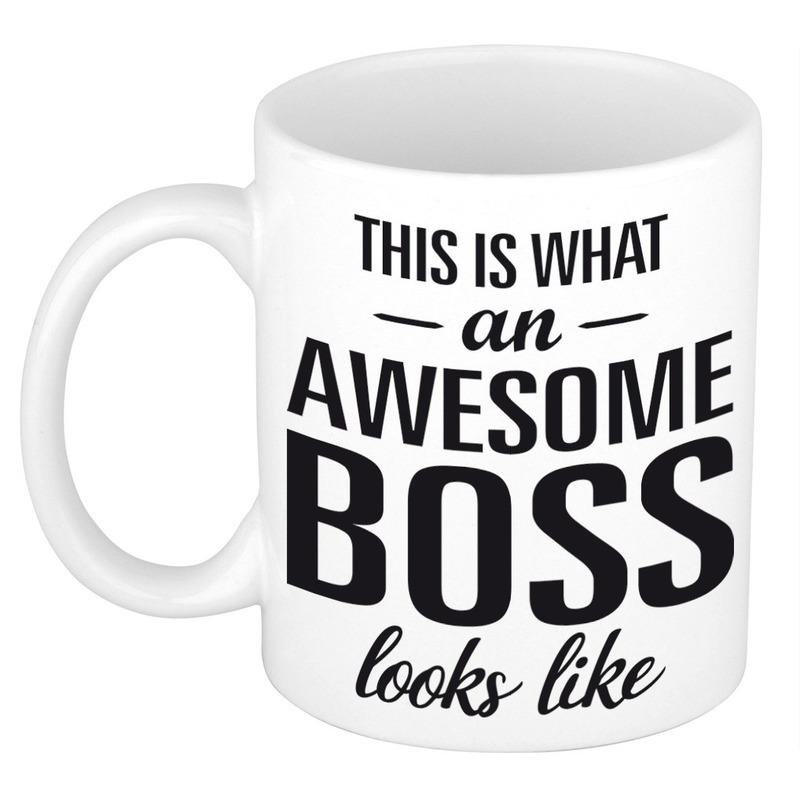 Awesome Boss Cadeau Mok Beker Voor Werkgever 300 Ml Online